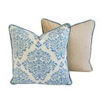 Image of Custom Raymond Waites Floral Damask Pillows - Pair