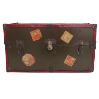 Antique Toy Steamer Style Trunk