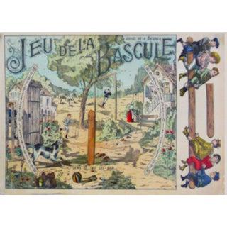 Original French Game Sheet Poster C. 1900
