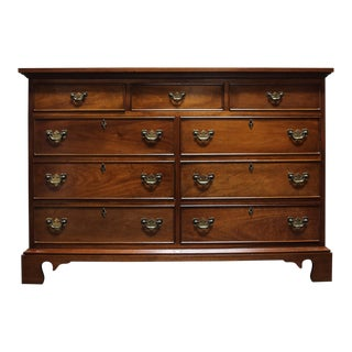 Vintage CRAFTIQUE Solid Mahogany Chippendale Nine Drawer Dresser