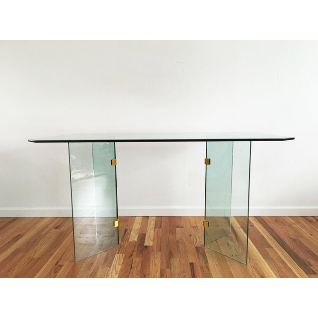 Beveled Glass Dining Table - Image 3 of 8