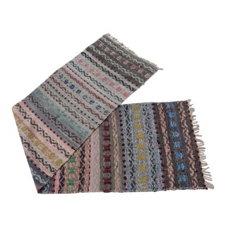 Swedish Vintage Handwoven Rag Rug - 2′3″ × 8′8″