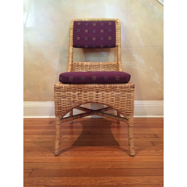 Vintage McGuire Caned Side Chair - Image 3 of 8