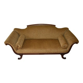Victorian Re-upholstered Chaise Sofa