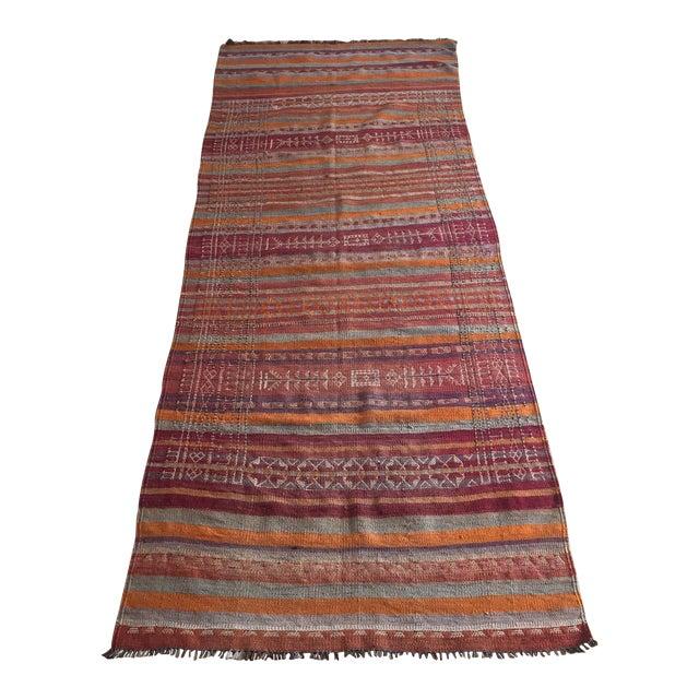 Vintage Turkish Kilim Anatolian Rug - 3′9″ × 10′4″ - Image 1 of 6