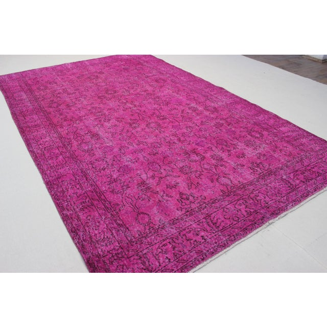 Vintage Overdyed Turki̇sh Rug - 6′4″ × 10′6″ - Image 3 of 6