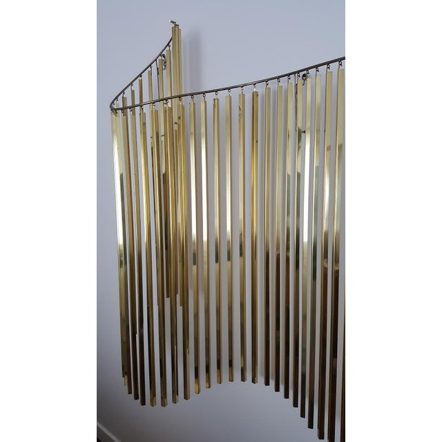 Curtis Jere Kinetic Wave Form Chrome & Brass Wall Sculpture - Image 6 of 11