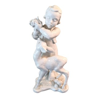 Rosenthal Child With Fawn Figurine