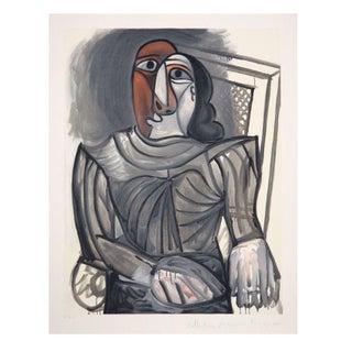 Pablo Picasso - Femme Assise a La Robe Grise Litho