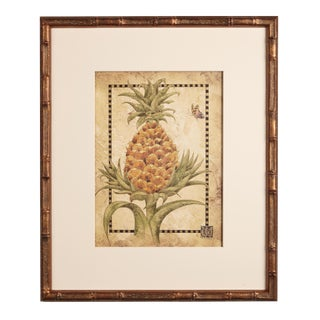 Artist - Michelle Woolley Sauter 'Pineapple No. 1' Wall Art
