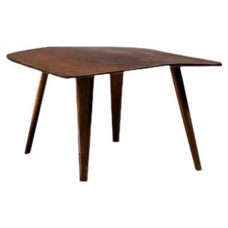 Devon Dennett Studio Craft Mahogany and Walnut Burl Side Table, USA, 1947