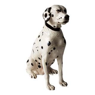 Vintage Porcelain Dalmatian Large & Lifelike Dog Statue