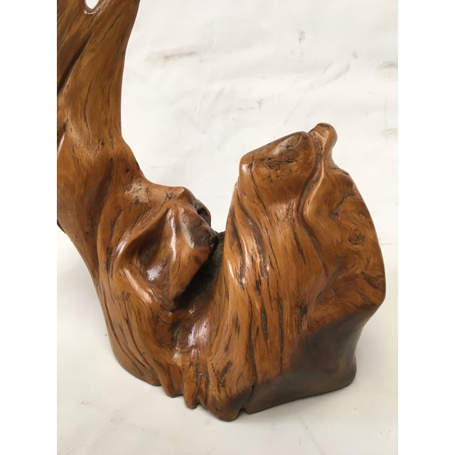 Tall Burl Wood Sculpture - Image 6 of 10