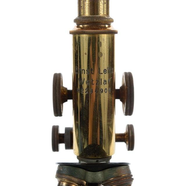 Ernst Leitz Wetzlar Antique Brass Microscope & Box - Image 4 of 9
