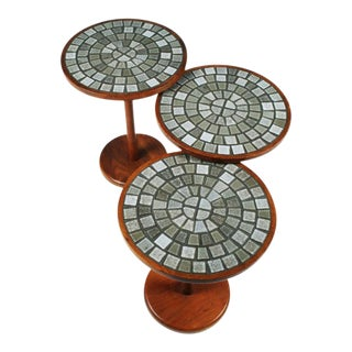Gordon Martz Tile Top Occasional Tables - Set of 3
