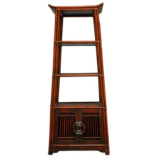 Three-Tier Bamboo Pagoda Etagere