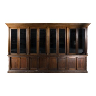 Victorian Walnut Library Cabinet