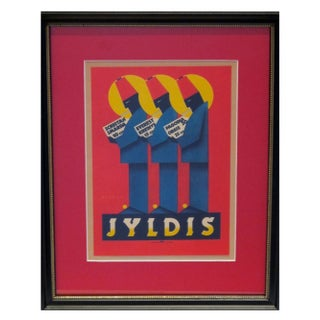 Framed Vintage British Advertisement Jyldis