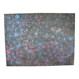 Abstract Oil on Canvas Wild Flowers by George Boyce