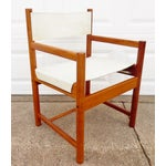 Image of Michel Arnoult Imbuia & Leather Chairs -A Pair