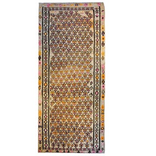 Exceptional Early 20th Century Qazvin Kilim Runner