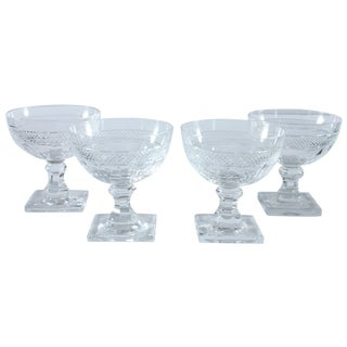 Cut Glass Cocktail Glasses - Set of 4