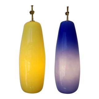 Venini - Pair of Glass Pendant Lights