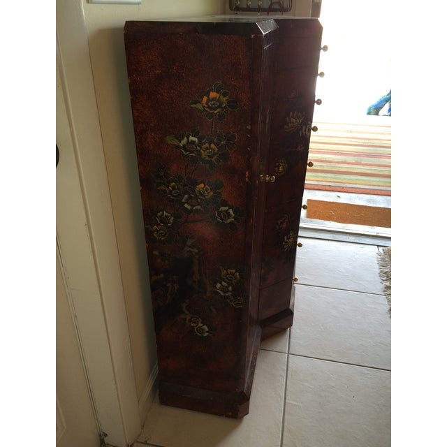 Red Asian Cabinet - Image 8 of 9
