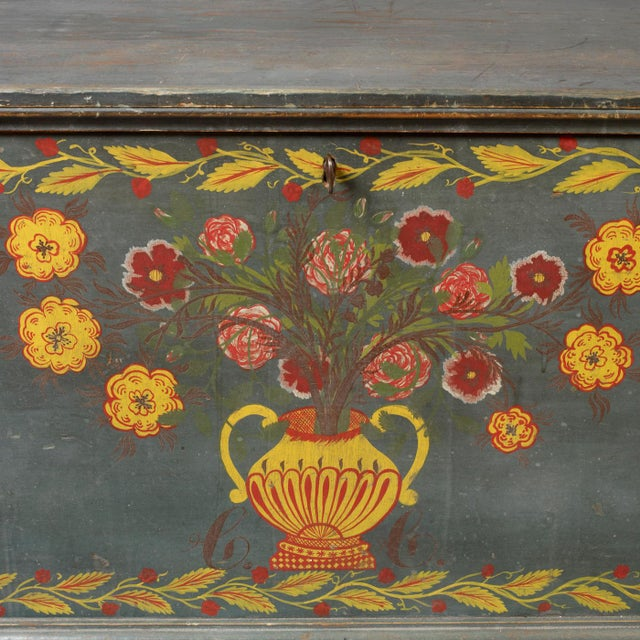 Image of Paint Decorated Blanket Chest