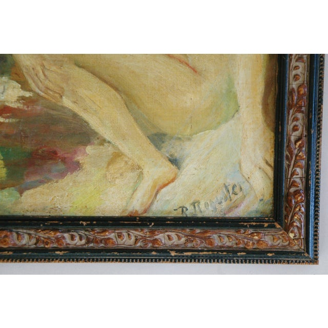 1940s French Oil Painting of Female Nude W/ Swan - Image 6 of 7