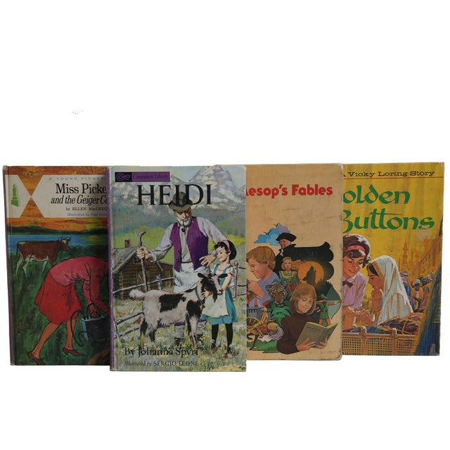 """Midcentury Book Gift Set: """"Lilac"""" Stories For Girls - Set of 6 - Image 4 of 5"""