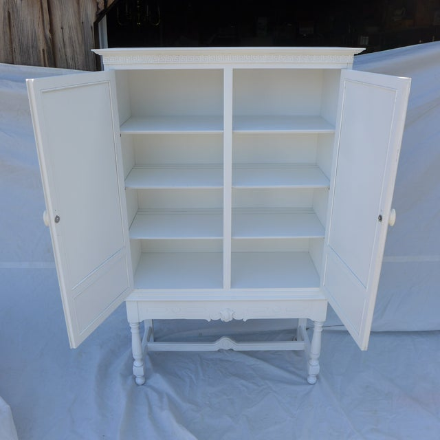 Antique White Painted Cabinet - Image 8 of 8