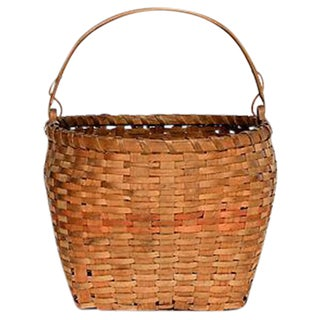 Woven Ash Wood Handle Basket