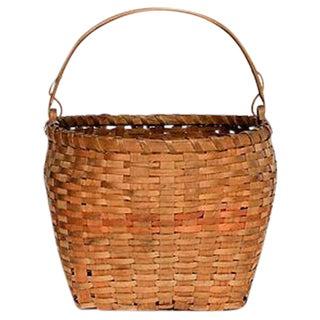Woven Ash Wood Handle Basket