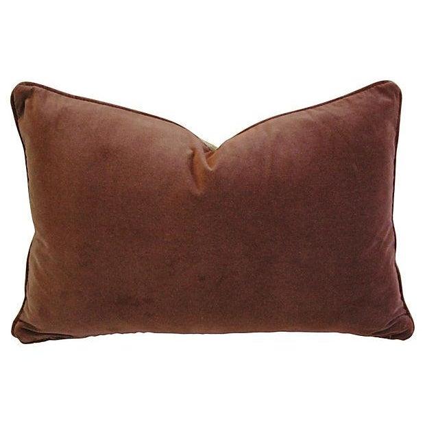 Designer Scalamandre Velvet Marly Pillows - A Pair - Image 3 of 7