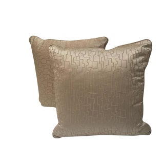 Modern Geometric Satin Pillows- A Pair
