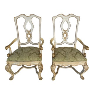 Ferguson Copeland Venetian Arm Chairs - Pair