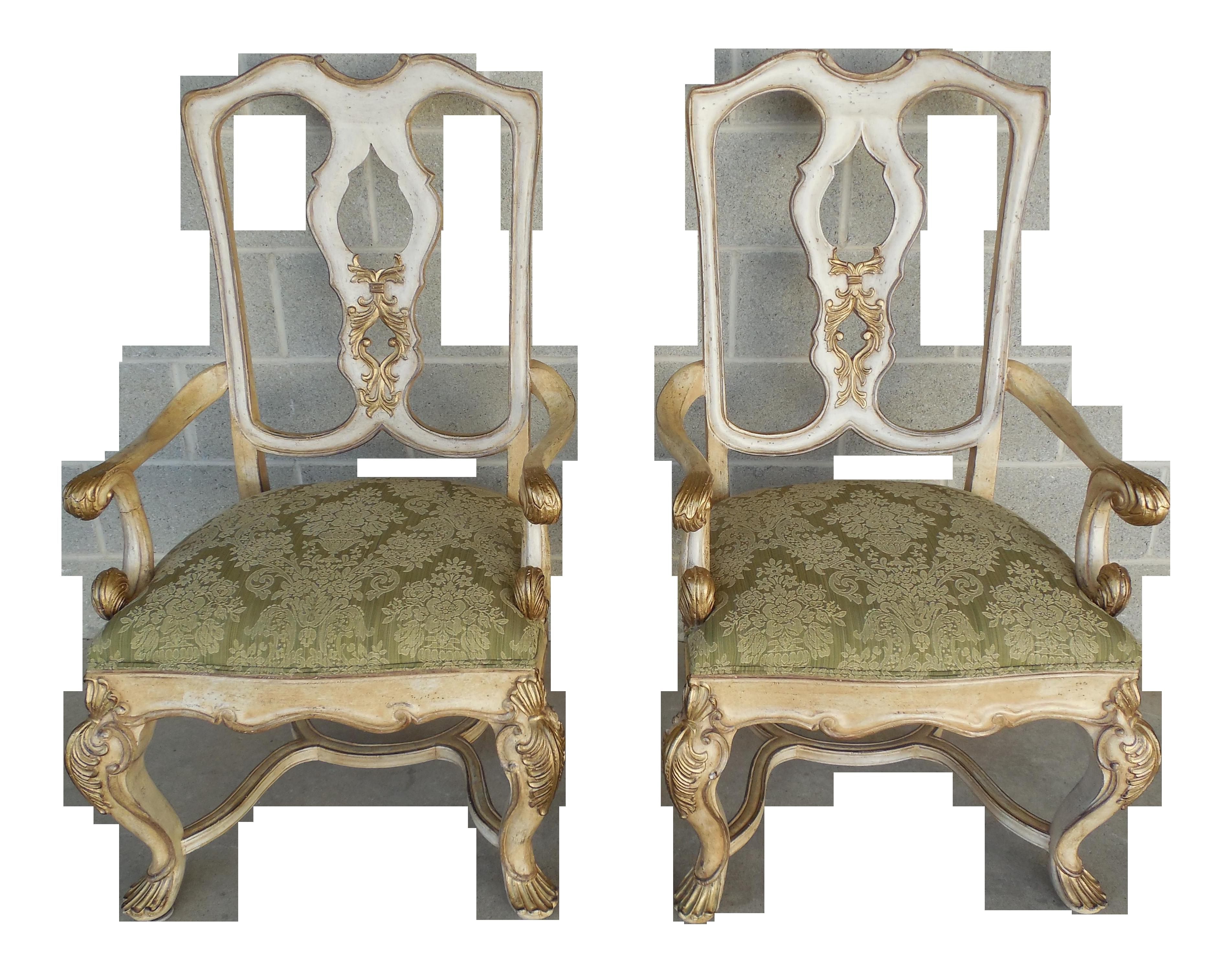 Ferguson Copeland Venetian Arm Chairs   Pair