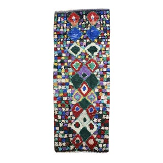Moroccan Boucherouite Hand-Made Runner Rug - 4″ × 11″