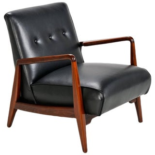 Jens Risom Leather Arm Chair