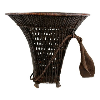 Woven Carrying Basket with Forehead Strap