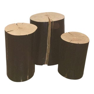 Gervasoni Lacquered Wood Logs - Set of 3