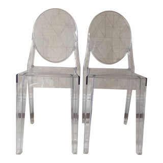 Kartell Victoria Clear Ghost Chairs - A Pair
