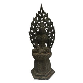 Antique Cast Iron Buddha Altar