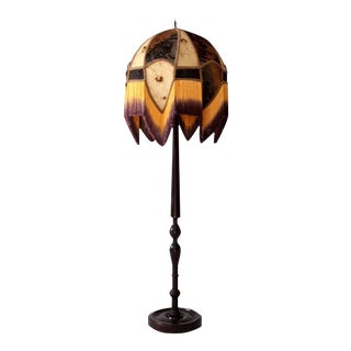 Victorian Floor Lamp & Velvet Burnout Shade