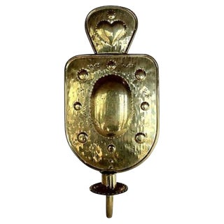 Swedish Brass Shield Sconce