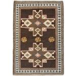 "Image of Antique Shiravan Brown Wool Rug - 5'11"" X 8'4"""