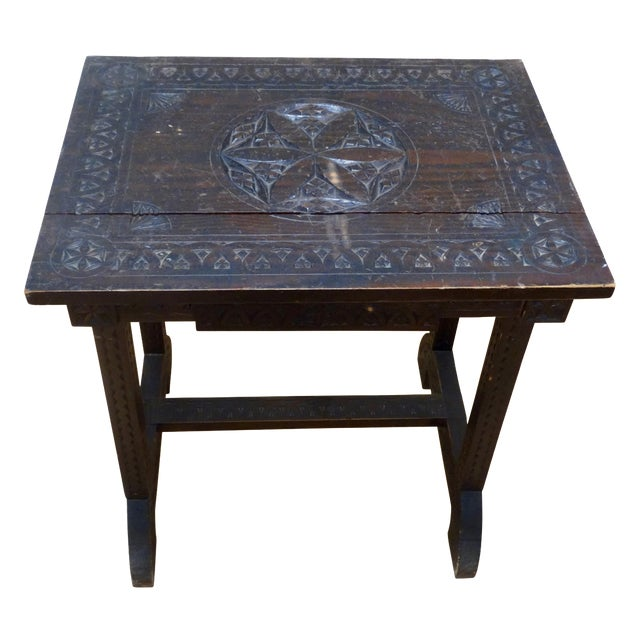Swedish Folk Art Accent Table - Image 1 of 4