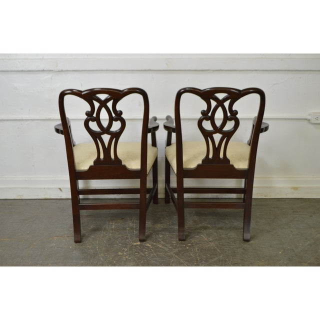 Baker Vintage Set of 6 Solid Mahogany Chippendale Style Dining Chairs - Image 4 of 10