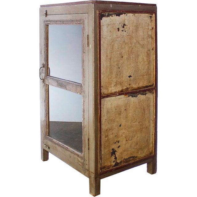 Vintage Olive-Hued Cabinet - Image 2 of 4